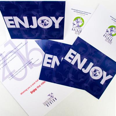 Enjoy 2016 Greeting Card Design
